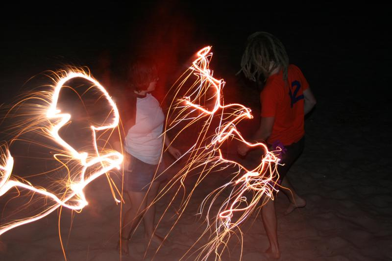 Dancing with Sparklers
